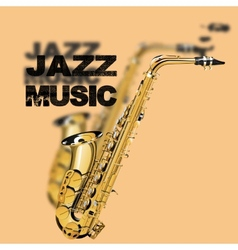 jazz music on a beige background vector image