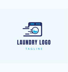 Laundry logo icon logo fast logo vector
