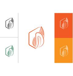 letter d logo cake deaf d logo vector image