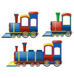 Locomotive in three designs vector