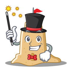 Magician sandcastle character cartoon style vector
