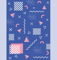 memphis geometric 80s 90s style abstract retro vector image