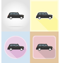 Old retro transport flat icons 06 vector