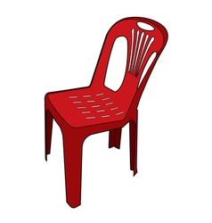 Plastic chair vector