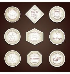 Restaurant label set vector