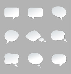 round paper speech bubble vector image