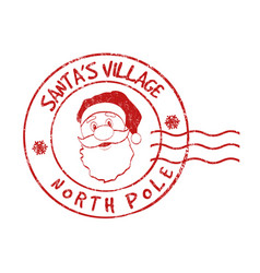 Santas village grunge rubber stamp vector