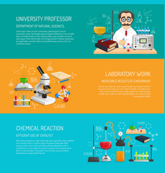 Science Banner Horizontal vector