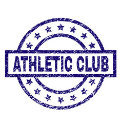 scratched textured athletic club stamp seal vector image