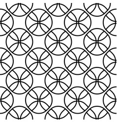 seamless pattern on balls fans vector image
