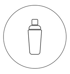shaker icon black color in circle vector image