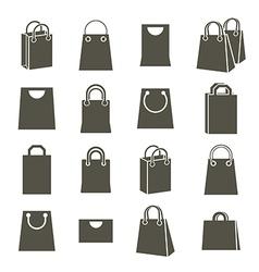 Shopping back icons isolated on white background vector image