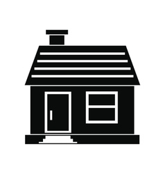 Small cottage icon vector