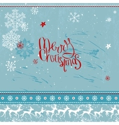 Square festive frame with phrase Merry Christmas vector image