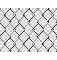 Steel mesh metal fence seamless transparent vector image