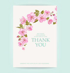 The thank you card vector
