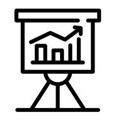 Trader banner graph icon outline style vector