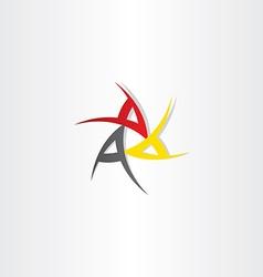 Triple a symbol design vector