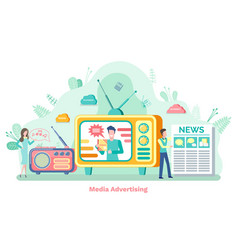 tv and radio promotion technology seo vector image