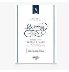 wedding invitation vintage vanilla background vect vector image
