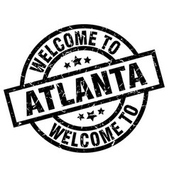 Welcome to atlanta black stamp vector
