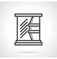 Bathroom mirror black line design icon vector image