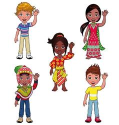 Children in the world vector