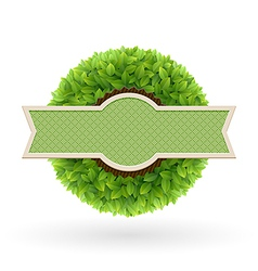 foliage lable vector image vector image