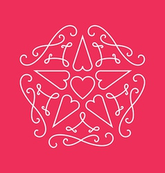 Floral monograms design template with star and vector image