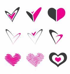 heart shape element vector image vector image