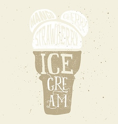Print for t-shirts ice cream Poster for a cafe vector image
