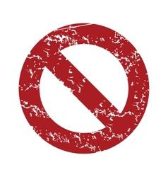 Red grunge sign ban logo vector image vector image