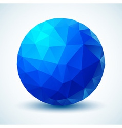 Blue Geometric Ball for your design vector image