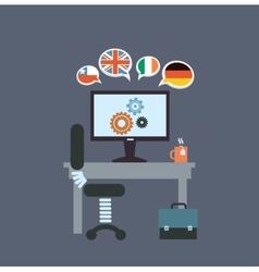 desktop translator vector image vector image