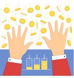 falling money icon vector image