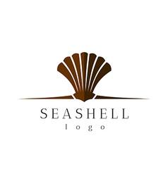 Sea shell logo vector image vector image