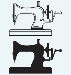 Antique Sewing Machine vector image