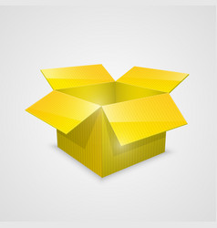 color open box yellow vector image vector image