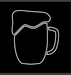 cup beer it is icon vector image vector image