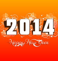 new year 2014 label design vector image