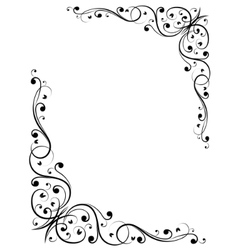 simple abstract floral bw pattern vector image vector image