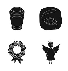 the urn with the ashes of the deceased the tears vector image