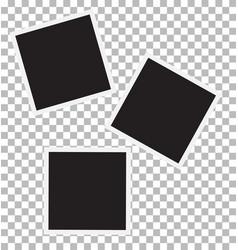 three blank retro photo frames vector image