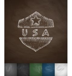 USA icon Hand drawn vector image