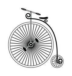 Vintage bike type 1 in black and white design vector image