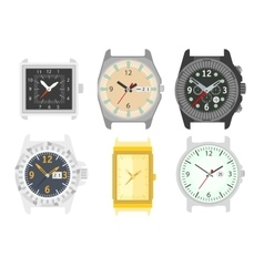 Watches set Stylish accessory for men vector image vector image