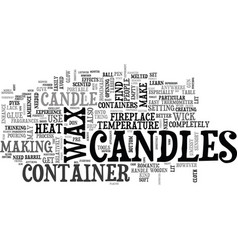 why candles text word cloud concept vector image