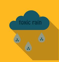 A cloud with an inscription toxic rain radiation vector