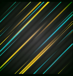 Abstract bright glowing stripes background vector