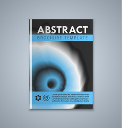 Abstract brochure or book cover template on grey vector